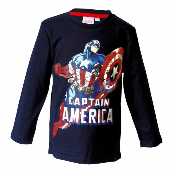 Marvel Avengers Caiptain America Langarmshirt - schwarz