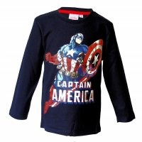 Marvel Avengers Captain America Langarmshirt - schwarz