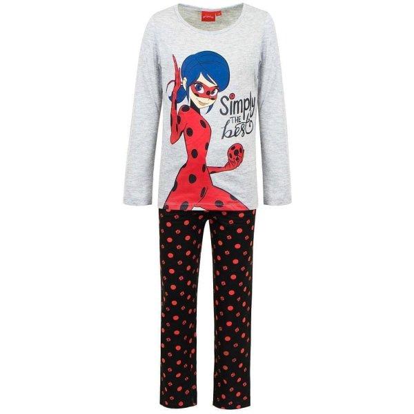 Miraculous Ladybug Pyjama - Grau/Schwarz