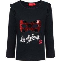 Miraculous Ladybug Langarmshirt mit Pailletten - schwarz