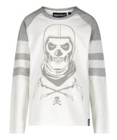 Fortnite Skull-Trooper  Langarmshirt - grau/weiß