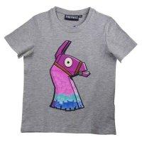Fortnite LAMA Jungen T-Shirt - grau