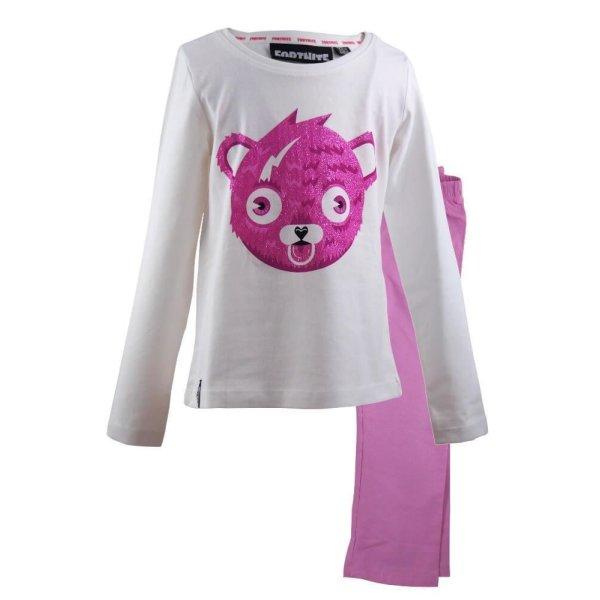 Fortnite Cuddle Mädchen Schlafanzug - rosa/weiß