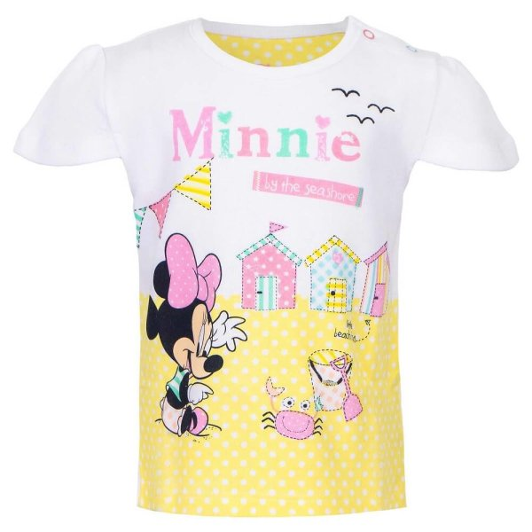 Disney Minnie Mouse - Baby T-Shirt - weiß
