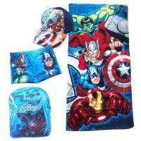marvel avengers 4 teiliges Badeset blau
