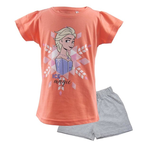 Disney Die Eiskönigin 2 Frozen Elsa Shorty 2 teilig. Set - orange