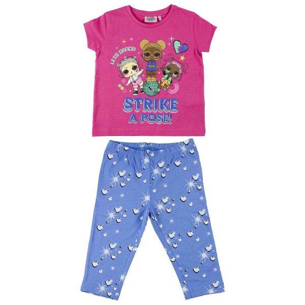 lol-surprise-mädchen-sommer-set-shirt-pink-leggings-blau
