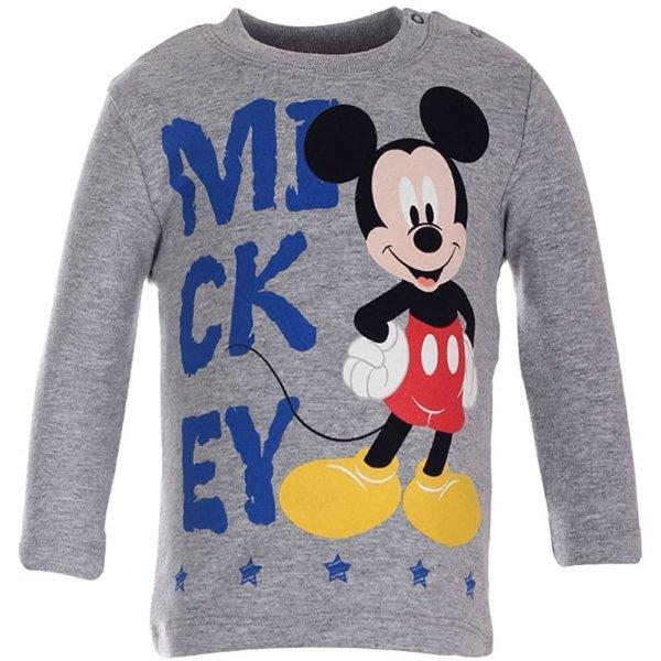 Disney Baby Mickey Mouse Langarmshirt Jungen Shirt, grau