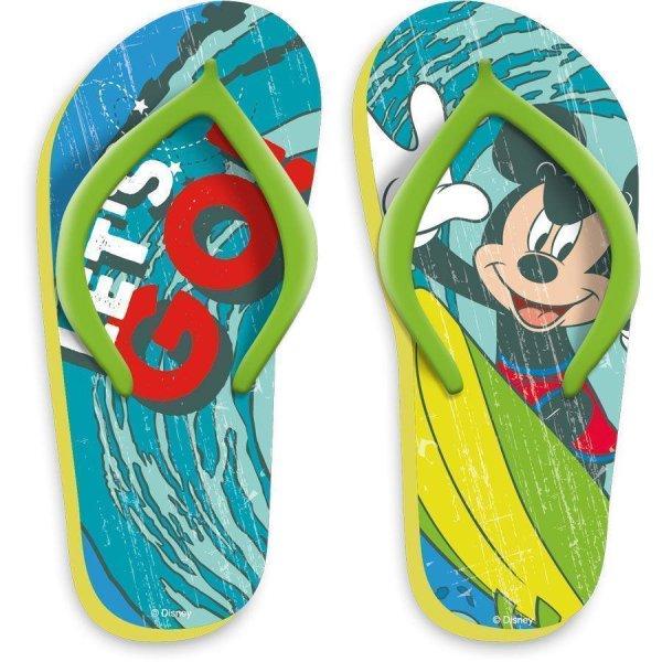 Disney Mickey Mouse Badelatschen Zehentrenner Flip Flops, gelb