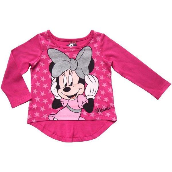 Disney Minnie Mouse Langarmshirt für Mädchen, pink