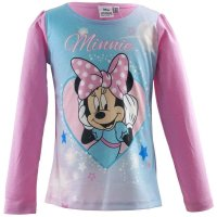 Disney Minnie Mouse Mädchen Langarmshirt, rosa