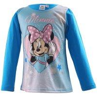 Disney Minnie Mouse Mädchen Langarmshirt, hellblau