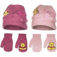 Disney Winnie Pooh Baby Mädchen Mütze und Handschuhe in rosa