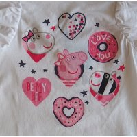 Peppa Pig Wutz Mädchen T-Shirt mit Rüschen,...