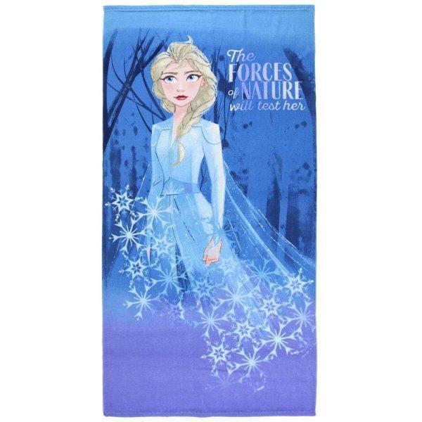 Disney Frozen 2 Eiskönigin Elsa Badetuch Strandtuch 70 x140 cm, blau