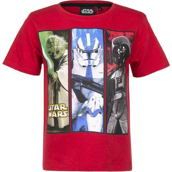 Star Wars YODA Stormtrooper Darth Vader T-Shirt, rot