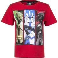 Star Wars YODA Stormtrooper Darth Vader T-Shirt, rot
