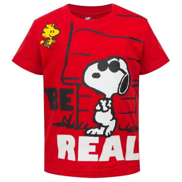 Snoopy PEANUTS Baby T-Shirt, rot