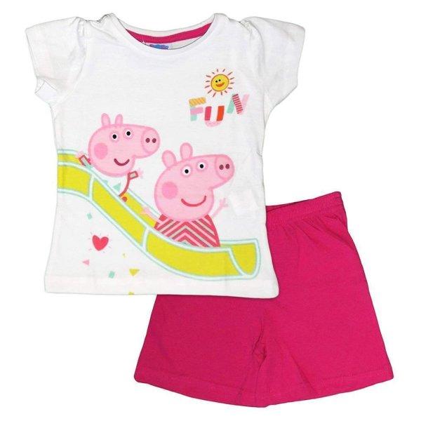 Peppa Pig Wutz 2 teilig. Set Hose T-Shirt, weiß-pink